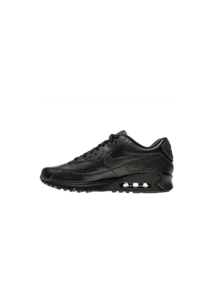 separation shoes e6e66 997db Nike Air Max 90 Noir Cuir (Ref  302519-001) Basket Homme