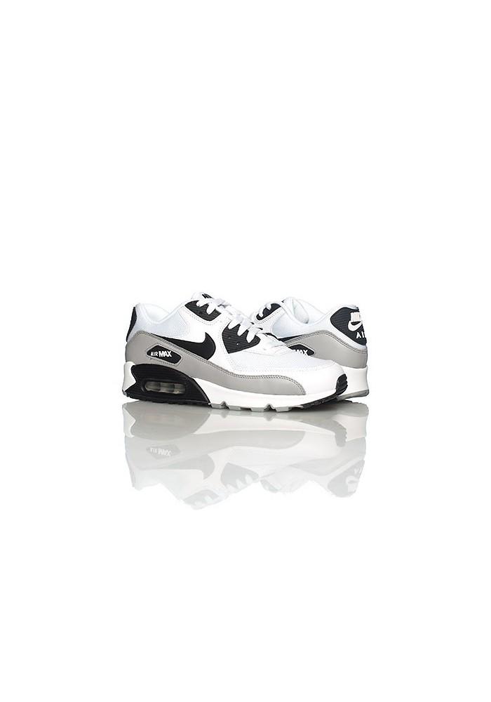 Nike Air Max 90 537384-110 Cuir Blanc Chaussure Running Hommes ...