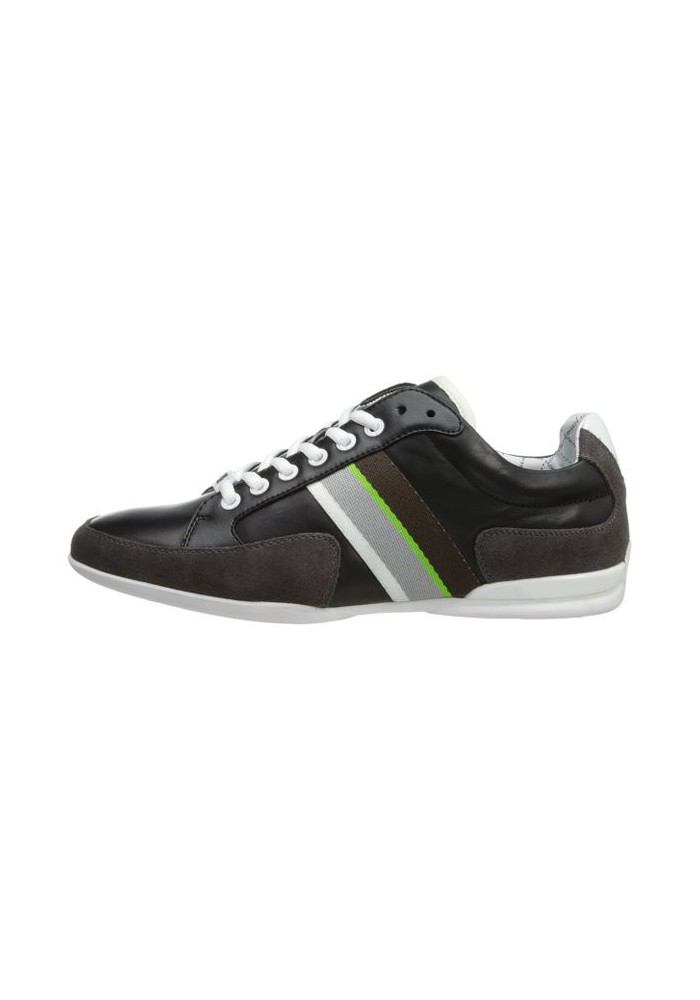 74df99d043a7d8 Chaussure Hugo Boss Green - Space Leather Noir - Homme. Loading zoom