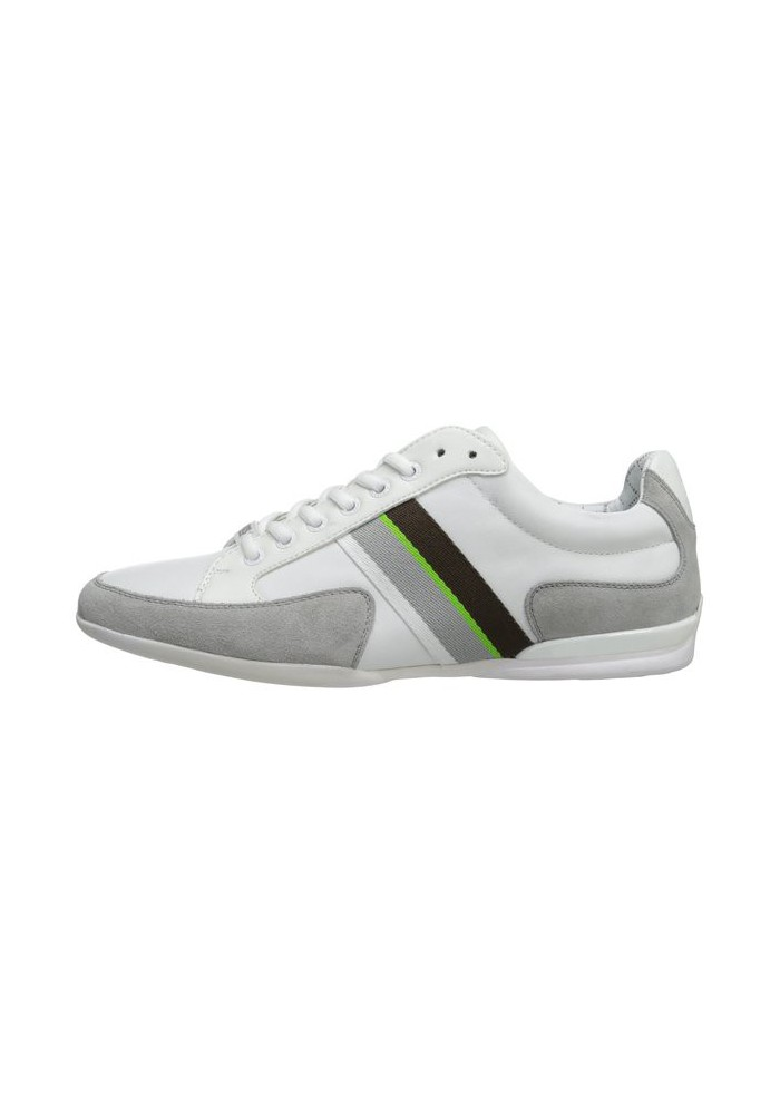 dd38ab04d9f Chaussure Hugo Boss Green - Space Leather Blanche - Homme - ShoemaniaQ