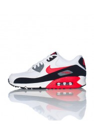 Running Nike Air 90 Essential Blanche Cuir (Ref : 537384-112) Chaussure Hommes mode 2014
