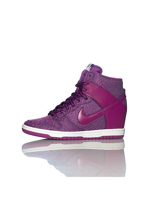 Baskets Haute Nike DUNK SKY HI TXT WEDGE Violet (Ref : 644410 400) Femmes